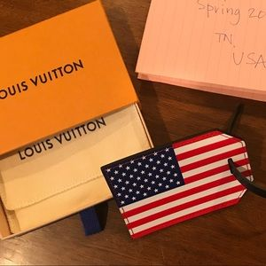 Louis Vuitton American Flag Luggage Tag FIFA Epi